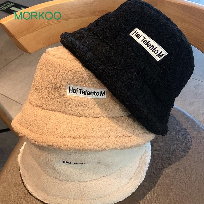 韩版羊羔毛渔夫帽
