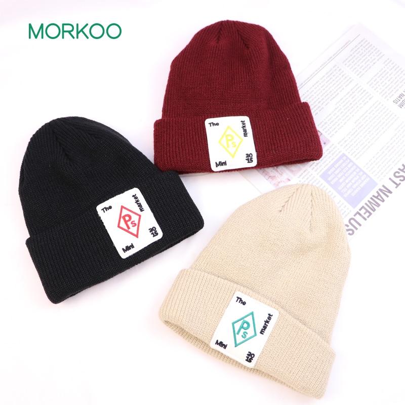 韩国大布标针织帽