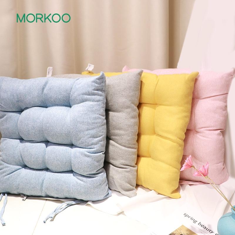 日系纯色棉麻坐垫