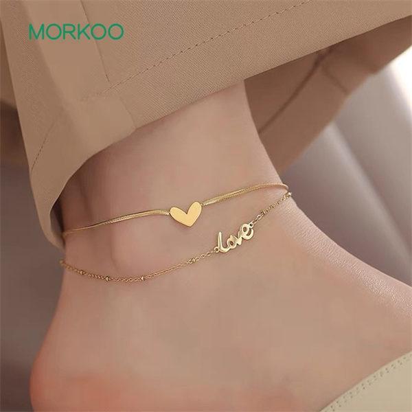 唯美爱心脚链